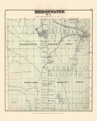 Bridgewater Bridgewater Academy Grant Portland Academy Grant, Maine 1877 Old Town Map Reprint - Aroostook Co. 53