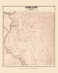 Ashland, Maine 1877 Old Town Map Reprint - Aroostook Co. 57