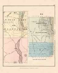Eagle Lake Westfield Plantation R7 XV R2 E, Maine 1877 Old Town Map Reprint - Aroostook Co. 61