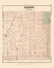 Easton, Maine 1877 Old Town Map Reprint - Aroostook Co. 69