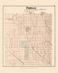 Perham, Maine 1877 Old Town Map Reprint - Aroostook Co. 81