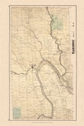 Caribou, Maine 1877 Old Town Map Reprint - Aroostook Co. 86