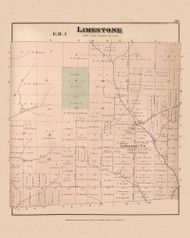Limestone, Maine 1877 Old Town Map Reprint - Aroostook Co. 89