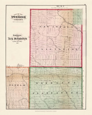 Sedish Colony New Sweden Woodland Plantation Perham, Maine 1877 Old Town Map Reprint - Aroostook Co. 91
