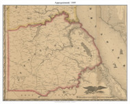 Appoquinimink, Delaware 1849 Old Town Map Custom Print - New Castle Co.