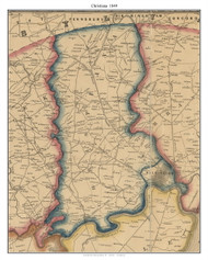 Christiana, Delaware 1849 Old Town Map Custom Print - New Castle Co.