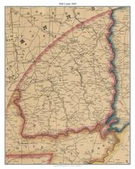 Mill Creek, Delaware 1849 Old Town Map Custom Print - New Castle Co.