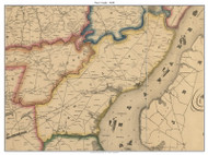 Newcastle, Delaware 1849 Old Town Map Custom Print - New Castle Co.