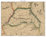 Red Lion, Delaware 1849 Old Town Map Custom Print - New Castle Co.