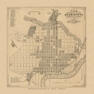 Wilmington City, Delaware 1849 Old Town Map Custom Print - New Castle Co.