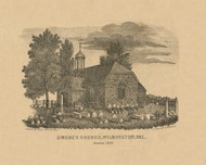 Swedes Church, Delaware 1849 Old Town Map Custom Print - New Castle Co.