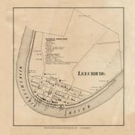 Leechburg Village, Allegheny Pennsylvania 1861 Old Town Map Custom Print - Armstrong Co.