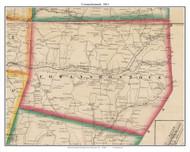 Cowanshonnock, Pennsylvania 1861 Old Town Map Custom Print - Armstrong Co.