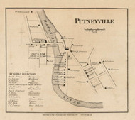 Putneyville Village, Mahoning Pennsylvania 1861 Old Town Map Custom Print - Armstrong Co.