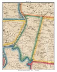 Manor, Pennsylvania 1861 Old Town Map Custom Print - Armstrong Co.