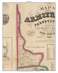 Perry, Pennsylvania 1861 Old Town Map Custom Print - Armstrong Co.