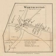 Worthington Village, West Franklin Pennsylvania 1861 Old Town Map Custom Print - Armstrong Co.