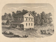 Picture of Hope Mills, Pennsylvania 1861 Old Town Map Custom Print - Armstrong Co.
