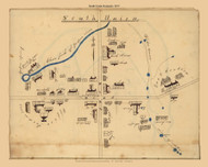 South Union, Kentucky 1835 Old Map Reprint - Shaker Villages USA Regional