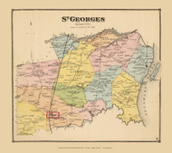 St. Georges Town, Delaware State Atlas 1868 Old Town Map Reprint - New Castle Co.