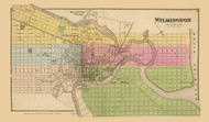 Wilmington, Delaware State Atlas 1868 Old Town Map Reprint - New Castle Co.