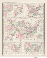 Historic map of the United States of America - 1878 O.W. Gray - USA Atlases