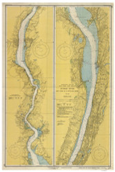 Hudson River - New York to Wappinger Creek 1950 - Old Map Nautical Chart AC Harbors 282 - New York