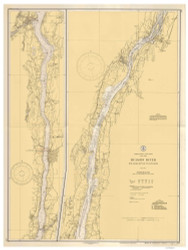Hudson River - Wappinger Creek to Hudson 1935 - Old Map Nautical Chart AC Harbors 283 - New York