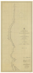 Hudson River - Haverstraw to Poughkeepsie 1878 - Old Map Nautical Chart AC Harbors 371 - New York