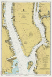 Hudson and East Rivers - West 67th St to Blackwells Island 1982 - Old Map Nautical Chart AC Harbors 745 - New York