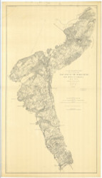 Hudson River - East Side, Croton to Peekskill 1878 - Old Map Nautical Chart AC Harbors 1472 - New York
