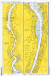 Hudson River - New York to Wappinger Creek 1971 - Old Map Nautical Chart AC Harbors 282 - New York