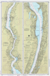 Hudson River - New York to Wappinger Creek 1980 - Old Map Nautical Chart AC Harbors 282 - New York