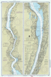 Hudson River - New York to Wappinger Creek 1990 - Old Map Nautical Chart AC Harbors 282 - New York