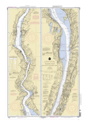 Hudson River - New York to Wappinger Creek 2002 - Old Map Nautical Chart AC Harbors 282 - New York