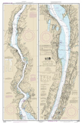 Hudson River - New York to Wappinger Creek 2013 - Old Map Nautical Chart AC Harbors 282 - New York