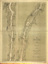 Hudson River - Wappinger Creek to Hudson 1909 - Old Map Nautical Chart AC Harbors 283 - New York