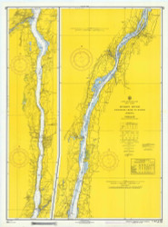 Hudson River - Wappinger Creek to Hudson 1966 - Old Map Nautical Chart AC Harbors 283 - New York
