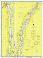 Hudson River - Wappinger Creek to Hudson 1975 - Old Map Nautical Chart AC Harbors 283 - New York