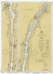 Hudson River - Wappinger Creek to Hudson 1985 - Old Map Nautical Chart AC Harbors 283 - New York
