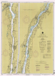 Hudson River - Wappinger Creek to Hudson 1995 - Old Map Nautical Chart AC Harbors 283 - New York