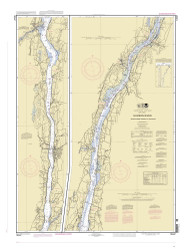 Hudson River - Wappinger Creek to Hudson 2007 - Old Map Nautical Chart AC Harbors 283 - New York