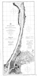 Hudson River - New York to Haverstraw 1901 - Old Map Nautical Chart AC Harbors 370 - New York