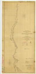 Hudson River - Haverstraw to Poughkeepsie 1861 - Old Map Nautical Chart AC Harbors 371 - New York