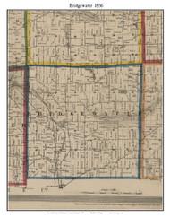 Bridgewater, Michigan 1856 Old Town Map Custom Print - Washtenaw Co.