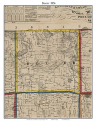 Dexter, Michigan 1856 Old Town Map Custom Print - Washtenaw Co.