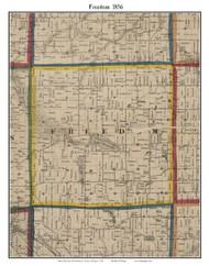Freedom, Michigan 1856 Old Town Map Custom Print - Washtenaw Co.