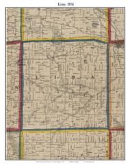 Lima, Michigan 1856 Old Town Map Custom Print - Washtenaw Co.