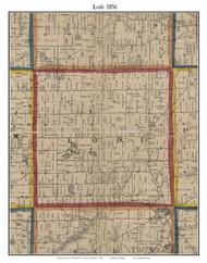 Lodi, Michigan 1856 Old Town Map Custom Print - Washtenaw Co.