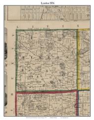 Lyndon, Michigan 1856 Old Town Map Custom Print - Washtenaw Co.